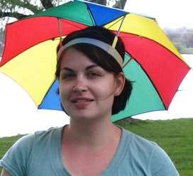 Payung topi mancing, golf, outdoor