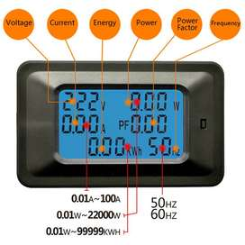6In1 Ac 100A /80~260V Digital Led Power Energy Voltmeter Ammeter Volta