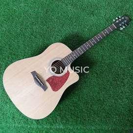 Guitar Acoustic LAX Original Import + EQ Natural *FREE CASE & PICK*