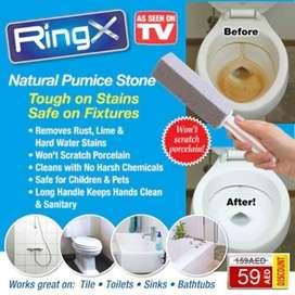 Alat Pembersih Kerak Plak WC Toilet Keramik Ring X Pumice Stone