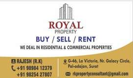 2bhk Rental Flats available in Adajan