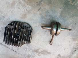Kawasaki ke 175 head and weight