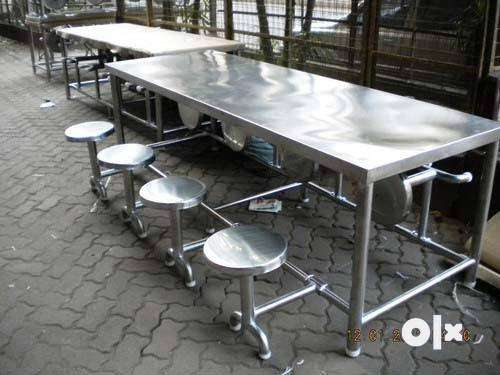 Stainless Steel Brand New Canteen Tables 4 - 10 seater 0