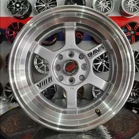 Velg rays te37 R15x7.0/8.0 h4x100/114.3 untuk mobil Datsun city Vios