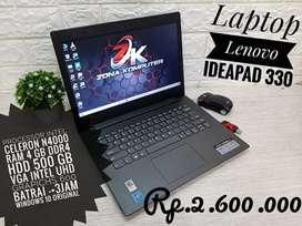 Zona Computer wts Laptop Lenovo Ideapad 330 Ram 4gb ada vga siap pakai