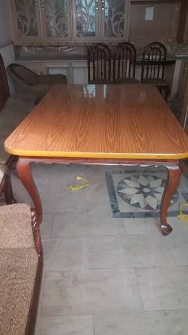 Lush Dinning Table with 8 chairs for sale