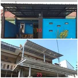 Kanopi minimalis, kanopi baja ringan, HEMAT Megamendung Bogor