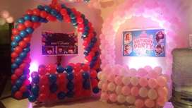 Balloon Decoration&DJsystem services and Cartoon character for Lahore