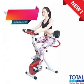 Sepeda Statis Sandaran Xbike Alat Fitness Gym Alat Olahraga Termurah
