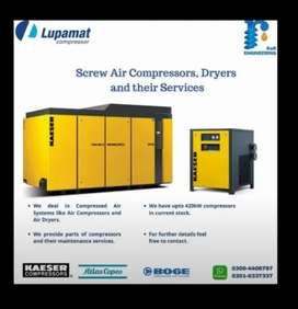 Rotary Screw Air Compressors Parts and their services