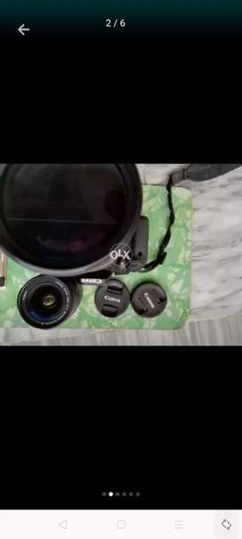 Canon 600d 10/10 condition month used  2 lens