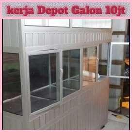 Melayani Depot Air minum : hrg 10Jt 3 pengisian