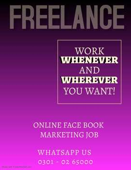 hiring a  students, housewife for Face book marketing online job