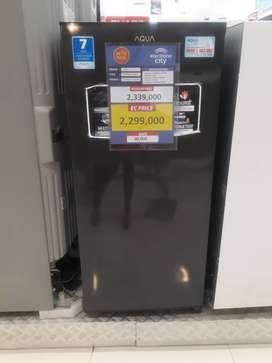Cicilan tanpa dp kulkas 1 pintu aqua