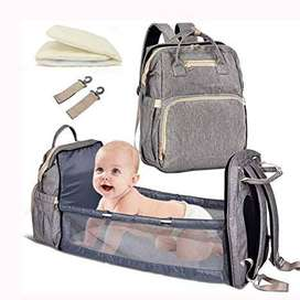 Fashion New Diaper Bags Backpack Multifunctional Foldable Baby Bed Cri
