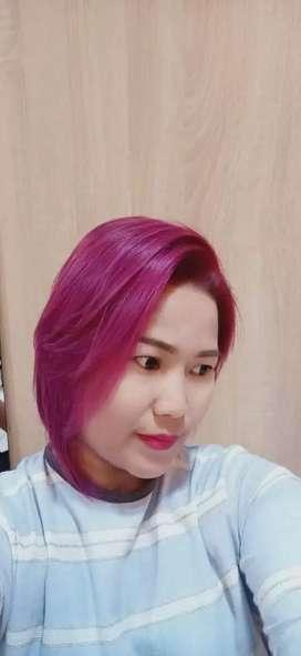 Make up rias pengantin n hair colouring