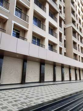 Road facing Shop with good frontage in New Smart city ,Vasai East