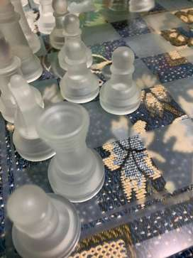 Chess. Glass.