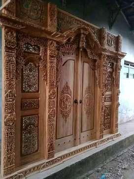 Gebyok ukir 3meterx270terbuat dari kayu jati