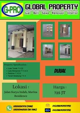 Dijual Rumah Komplek Marina Residence Lokasi Strategis