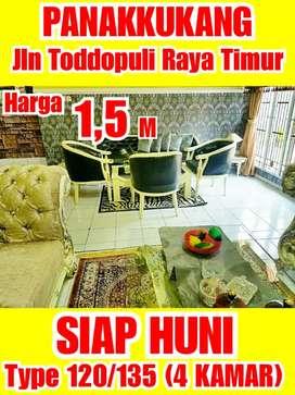 Rumah Mewah jln Toddopuli Full renov.Hanya 5 menit dr MALL PANAKKUKANG