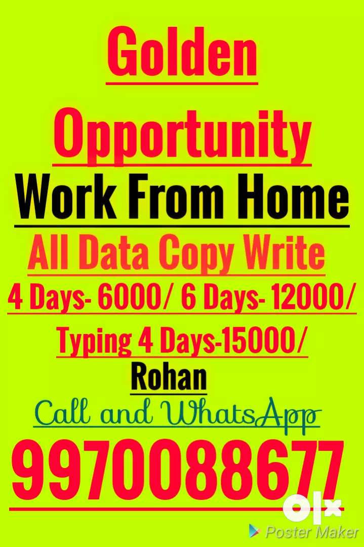 Easy job Copy paste  Typing Work and manual Hand Writing paper work 0