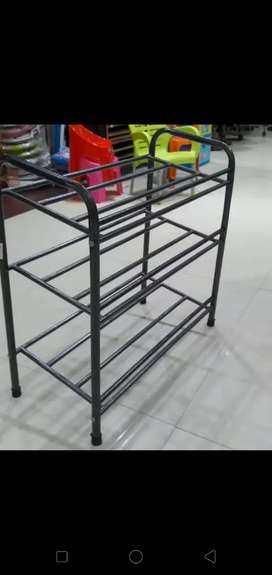 Shoes rack made in iron pipe 4 Shelp