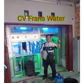 Depot isi ulang air minum ces  dan kredit