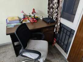 Study table with office chair moving type