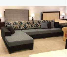 classical L shape sofa Luxurious & Comfortable With Center table