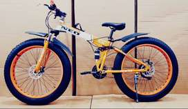 New fat and foldable cycle with 21 Gears