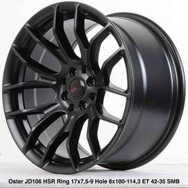Velg Ring 17 Lebar 75/9 HSR model OSTER cocok buat Jazz RS, Mazda2 Dll