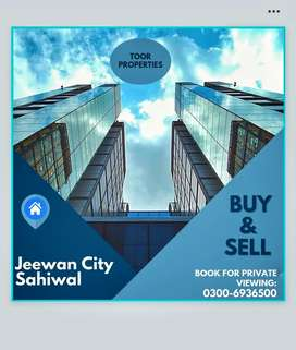 10 Marla corner + Park facing Plot  for sale in Jeewan City Sahiwa