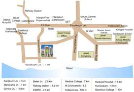 Furnished flat near Kottayam Collectorate at Rs. 8500