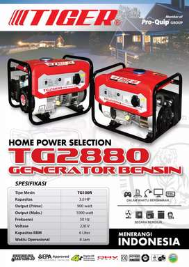 Mesin genset Tiger type 2880(1000watt)