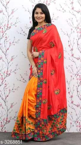 *Divine Stylish Sana Silk Saree*