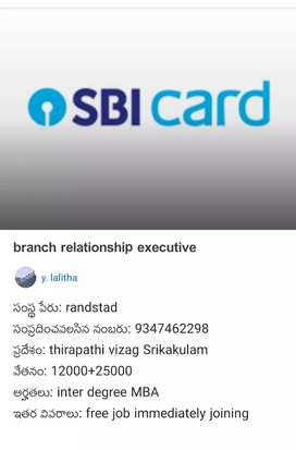 Branch relationship executive (  Sbicard)