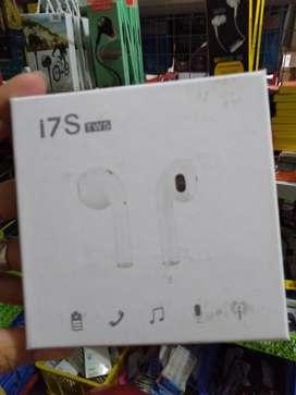 headset head set handsfree airpond bluetooth i7s stereo (sinar kita)