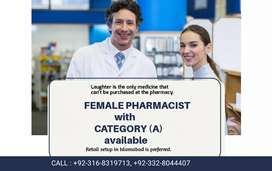 Pharmacist Category A available