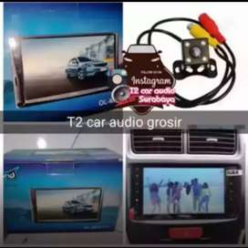 Terbaru mumer 2din android link led 7inc faforit plus camera hd