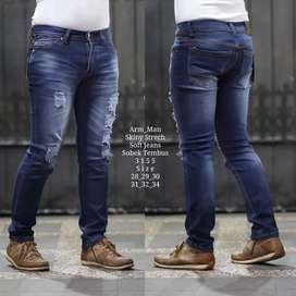Jeans sobek puring