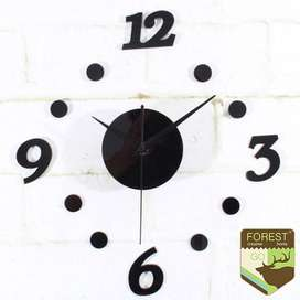 Jam Dinding DIY Giant Wall Clock Quartz Creative Design 30-50cm - DIY-