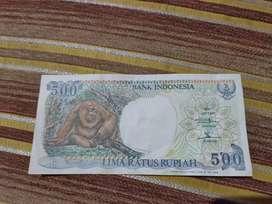 Di jual uang kertas 500 rupiah tahun 1992