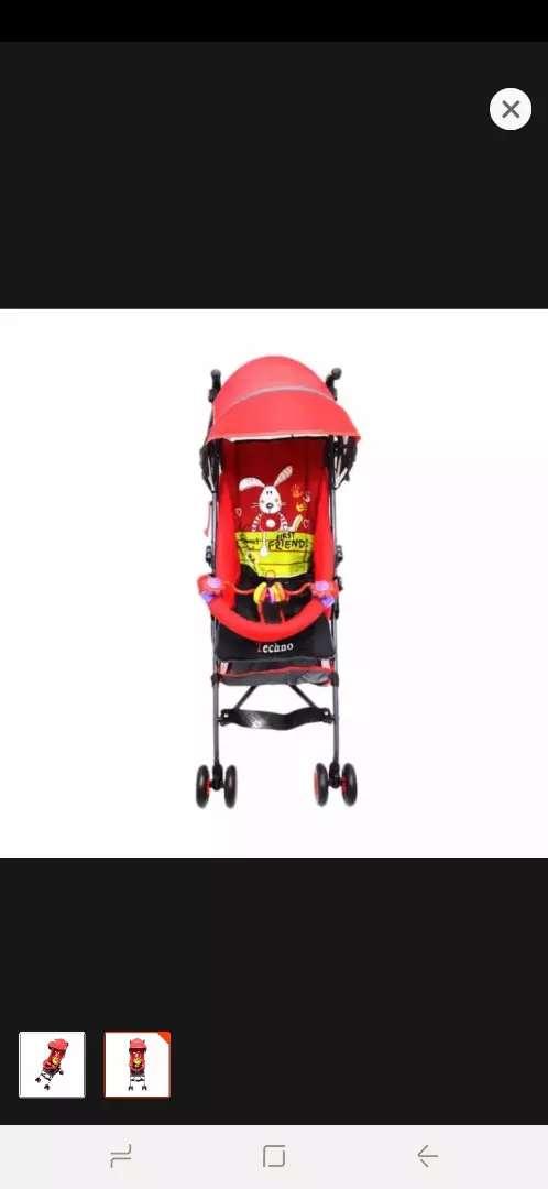 Pliko techno PK 107 - Buggy baby stroller / merah 0