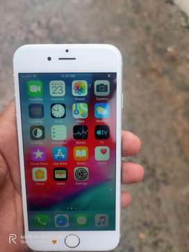 I phone 6 silver color 64gb storage