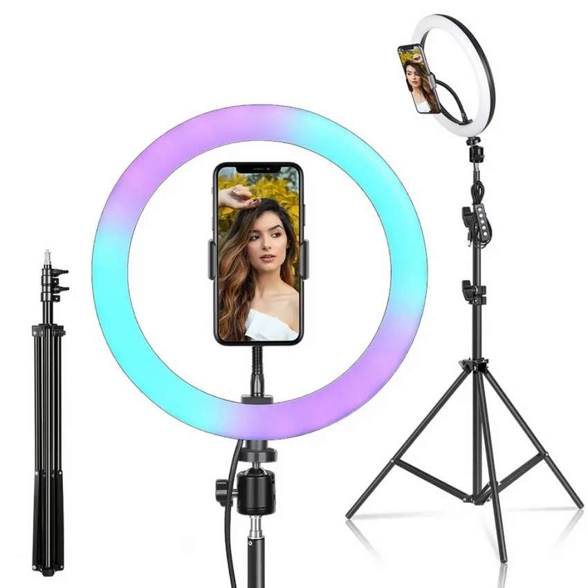 Led RGab Ring Light  26Cm  With  Tripod Stand home Delivery Available 0
