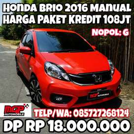 Honda Brio 2016 Manual Facelift Velg Ban Brio RS dan Foglamp KM 20rb