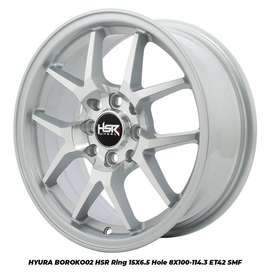 velg import HYURA BOROKO 02 HSR R15X65 H8X100-114,3 ET42 SMF