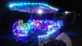 mainan kereta panggung wahana pasar malam odong BBC campuran