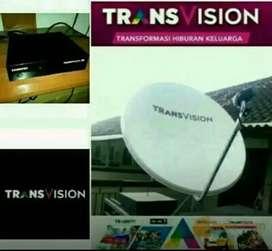 Gebyar Transvision HD resmi kota Medan paket setahun diskon up 50%